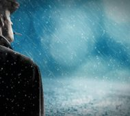 Mand i regn